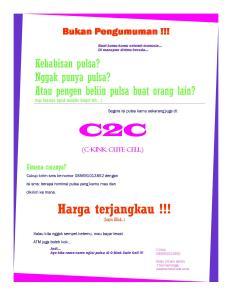 Publikasi C2C Cell