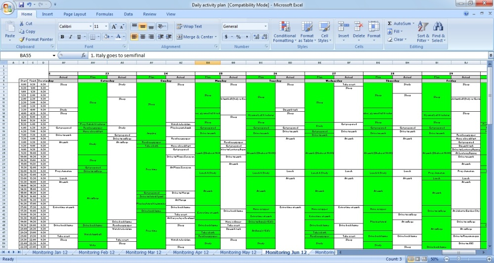 Daily Activity Plan 2